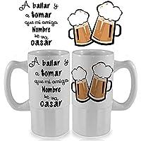 Jarra de cerveza de cerámica personalizada 500 ml regalo frases molonas despedida de solteros solteras cumpleaños regalos amigas fiesta cerveza bodas matrimonios