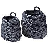 Korb, 2er Set, grau, Verpackungsgröße & Gewicht: 29 cm x 27 cm x 4 cm x 0,57 kg, Material 100% Polypropylen