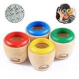 INTVN Caleidoscopio de Madera, Mágico Caleidoscopio Prism Juguete de educación Regalos de los niños, 4 Piezas (Color Aleatorio)