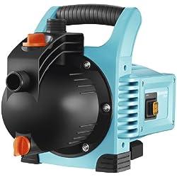 GARDENA Pompe d'arrosage de surface 3000/4 Classic : pompe d'arrosage, débit de 3100 l/h, silencieuse et durable, avec bouchon de vidange d'eau, puissance d'aspiration élevée (1707-20)