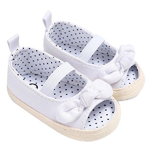 Culater® Pattini Appena Nati dei Sandali del Bambino della neonata del Bambino della neonata dei Bambini (2, Bianca)