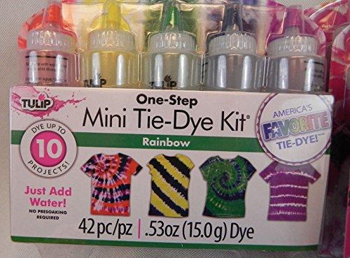 Mini-Krawatten-Set in einem Schritt, Regenbogenfarben - Drucken Krawatte Set