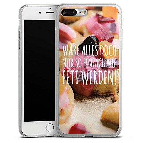 Apple iPhone X Slim Case Silikon Hülle Schutzhülle Humor Diät Sprüche Silikon Slim Case transparent