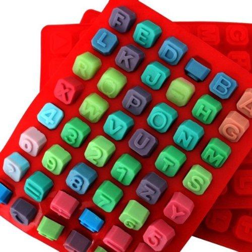 AllforhomeAZB 26 Buchstaben OPERATORS Ice Cube Jelly Schokolade DIY Candy Silikonform Kuchen dekorieren Fondant Form zum Backen