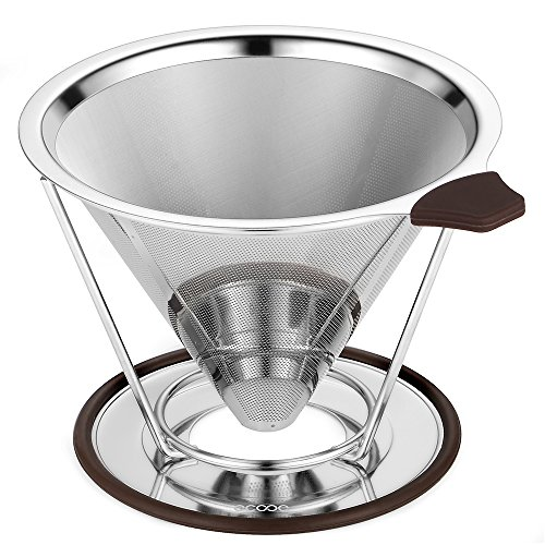 Ecooe Kaffeefilter Edelstahl Handfilter permanentfilter