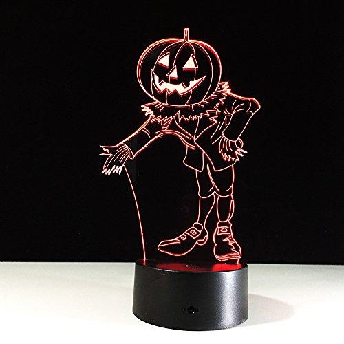 Kürbis Licht Clown Halloween Farbe 3D Licht Touch Visuelle Licht Acryl Gradient LED Tischlampe Nachttisch Dekoration Licht Kreative Buchstaben schlafen leuchtende Geschenk Lichter