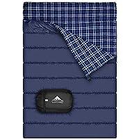 Saco de dormir doble de la franela del algodón para acampar, hacer excursionismo, o