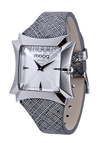 Moog Paris Vendôme Women's Watch with Silver Dial, Gray Strap in Genuine Leather - M45402-004