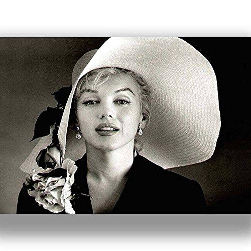 Box Prints Marilyn Monroe Film Vintage Retro-Stil Poster Kunstdruck Schwarz Weiß gerahmte Bild Klein groß