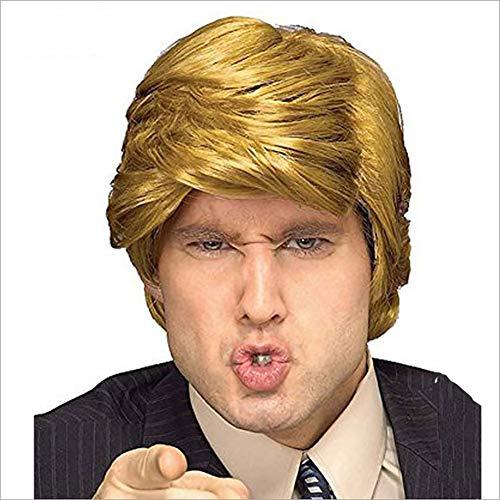 80er Jahre Perücke - Erwachsene Blond Party HOCH QUALITÄT Synthetik Perücke Kostüm Schick Kleid Zum Männer Erwachsene Pop-Rock Tolle - Gold