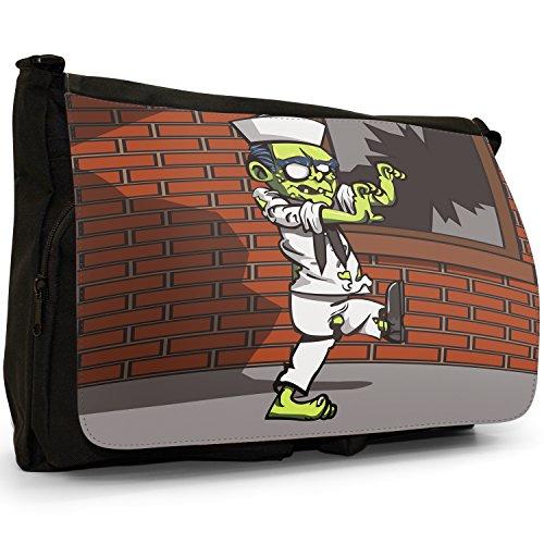 Zombie Plague morti viventi–Borsa Tracolla Tela Nera Grande Scuola/Borsa Per Laptop Navy Sailor Zombie