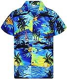 Funky Camicia Hawaiana, Surf, blue, XL