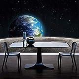 Yirenfeng Customized Any Size Moderne Fototapete Stern Erde Universum Mond 3D Wandbild Wohnzimmer Schlafzimmer Hintergrundbild Roll140X70CM