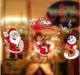 ZBYLL Fensteraufkleber Weihnachtsschmuck Aufkleber Glastür Aufkleber Schneemann Alte Fässer