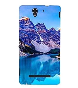 Blue Mountains 3D Hard Polycarbonate Designer Back Case Cover for Sony Xperia C3 Dual :: Sony Xperia C3 Dual D2502