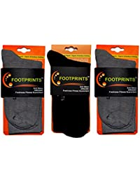FootPrints Odour free Organic cotton Men's Formal Socks Pack of 3- 2 Grey and 1 Black