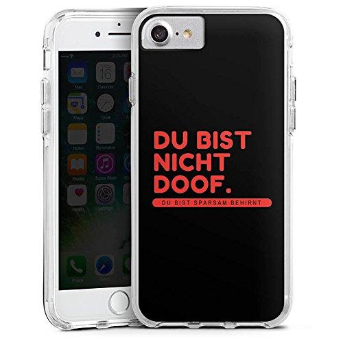 Apple iPhone 7 Bumper Hülle Bumper Case Glitzer Hülle Doof Dope Phrases Bumper Case transparent