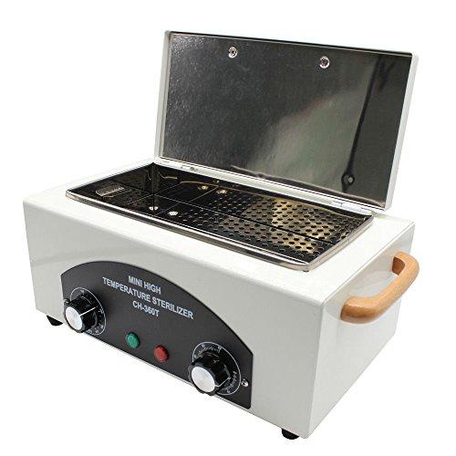 OUKANING Elektro Heißluft Sterilisator Sterilisationsgerät Sterilisation Fuß Kosmetik Pflege Reinigung Gerät 1,5l 300W (mit Griff)