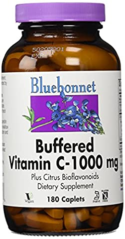 Buffered Vitamin C-1000 mg, 180 Caplets - Bluebonnet Nutrition - Qty 1
