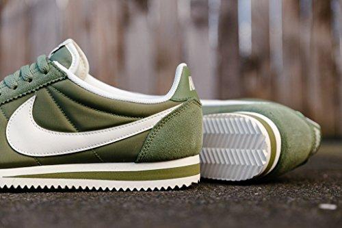 Weiss Sapatilhas Cortez Nike Nylon Damen Clássicas Wmns Oliv n0wnZUPCqx