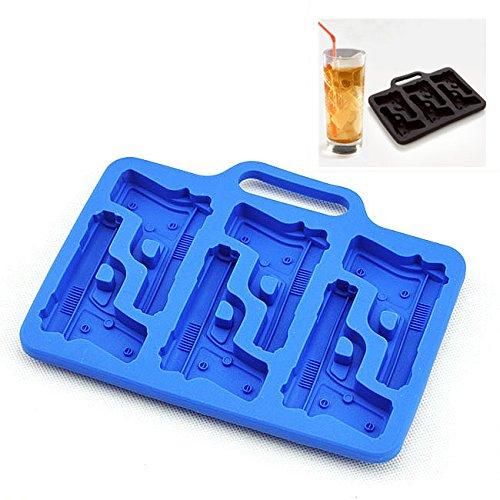 ELINKUME Ice Mould Cube Tray Funny Shape Chocolate Mold Silicone Ice Würfel, Schokolade, Süßigkeiten, Gelatine Dessert, SOAP Form (Pistole) Square Chocolate Mold
