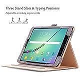 ProCase Samsung Galaxy Tab S3 9.7 Hülle, Stand Folio Case Cover für Galaxy Tab S3 Tablet (9,7 Zoll, SM-T820 T825), mit Mehreren Betrachtungswinkeln, Dokumentenkarte Tasche –Grau Test