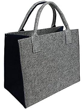 Hochwertige Filztasche - Einkaufstasche, Kamintasche Geschenktasche in verschiedenen Farben