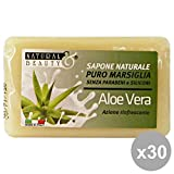 Set 30 NaturaL BEAUTY Saponetta Aloe Vera 150 Gr. Saponi e cosmetici