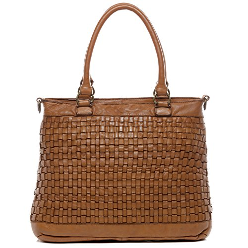 BACCINI bolso de mano ROSA Cuero - cartera con asas cortas marrón