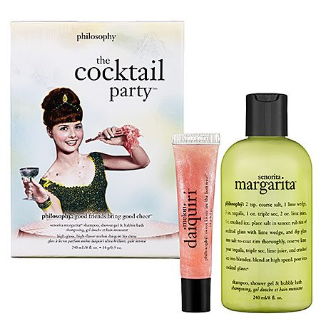 The Cocktail Party Set: Senorita Margarita Shampoo Shower Gel & Bubble Bath 240ml + Melon Daiquiri Lip Shine 12ml - 2pcs