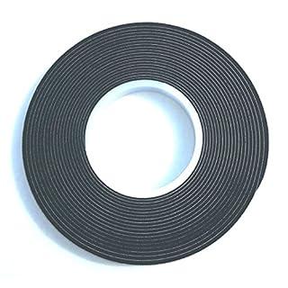 12,5m Komprimierband 10/2 Bandbreite 10mm, Acryl 300, expandiert von 2 auf 10mm, anthrazit, vorkomprimiertes selbstklebendes Dichtungsband Kompriband Fugendichtband Fensterdichtband Quellband