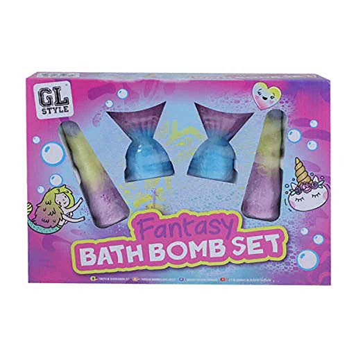 Einhorn Horn eine Meerjungfrau Schwanz Bad Bomben Kinder Kinder Freund Mädchen Geschenk für sie Weihnachten Geburtstag Geschenke für Party-Tasche Mädchen Alter 5 6 7 8 9 10 11 12 Jahre alt (Bad Elf Kostüm)