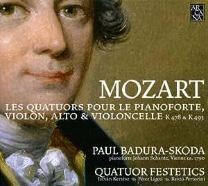 Mozart : Quatuors pour le pianoforte K 478 et  K 493