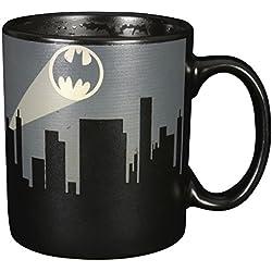 """'Batman 0122038Taza con cambio de color """"Bat señal, cerámica, Negro, aprox. 300ml, 12x 7,5x 9,30cm"""
