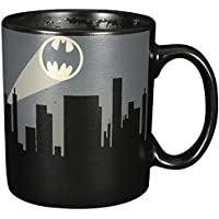 "Batman 0122038 Tasse mit Farbwechsel ""BAT Signal"", Keramik, schwarz, circa 300 ml, 12 x 7,5 x 9,30 cm"