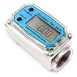 Durchflussmesser Digital Dieselpumpe Digitalzählwerk 38-380 l/min Diesel Heizöl Ölzähler