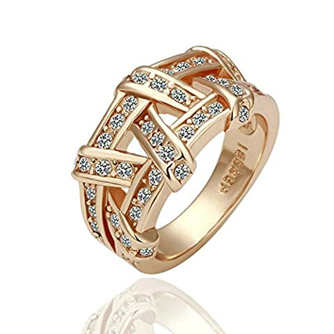 Yoursfs Vintage Irish Style Jewellery for Women Unique Wedding Bands Hollow Out 18ct Gold Plated Dress Rings for Lady