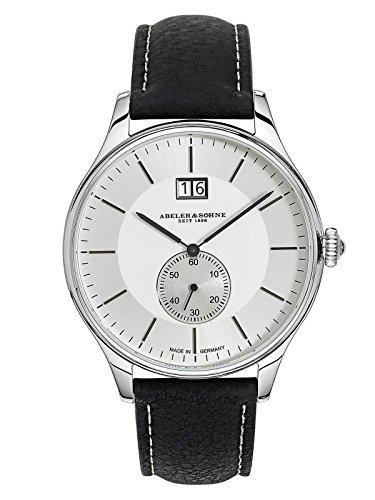Abeler & Söhne fabricado en Alemania Reloj de hombre (Fecha Grande, con cinta de piel, cristal de zafiro y as3279