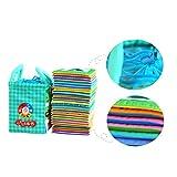 Sharplace 26pcs / Set Baby Stoffbuch Tuch Karten, 26 Buchstaben, 12,5x10,5CM, Kinder pädagogisches Spielzeug