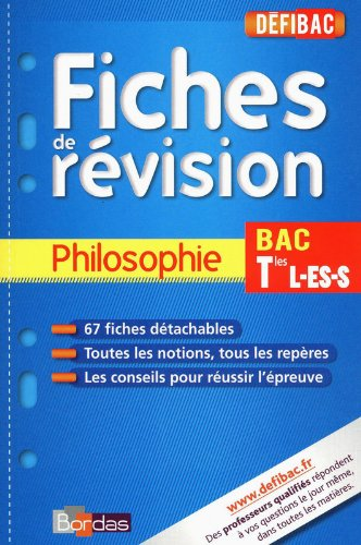DEFIBAC FICHES PHILO TERM L/ES