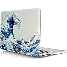 iDOO Funda dura de goma con acabado mate [Para MacBook Pro Retina 13 Pulgadas - sin unidad de CD: A1425 / A1502] - La gran ola de Kanagawa