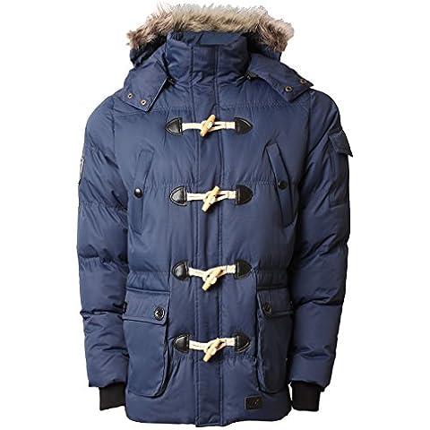 Para hombre acolchado Parka chaqueta de hípica para niños Max Edition NAGANO capucha para traje de buzo abrigo de invierno de pelo sintético
