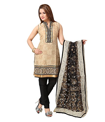 Idha - FREE Maybelline Colossal Kajal MRP 199 - Cream-Black Straight Fit Zakad Banaras Sequence Design Festive/Party Wear Readymade Salwar Suits | GC1109