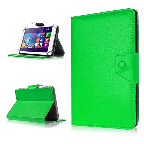 NAUC® Tasche Schutz Hülle f Telekom Puls Tablet Schutzhülle Case Cover Etui Bag, Farben:Grün
