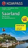 Saarland: Wanderkarten-Set mit Aktiv Guide in der Schutzhülle. GPS-genau. 1:50000 (KOMPASS-Wanderkarten, Band 825)