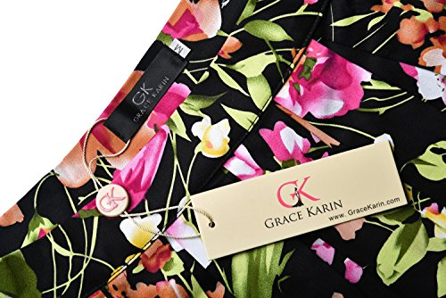 Damen A-linien Roecke Elegant Faltenrock Knielang Vintage mit Mehren Farben CL6294 Farbe11