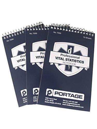 """Portage Emt/First Responder Statistiken Notizbuch Tasche Größe 6""""X 3-3/4"""" (3Er-Pack)"""