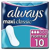 Always Maxi Classic Binden Ohne Flügel Größe 1, 10er Pack (10 x 10 Stück) [Auslaufmodell]