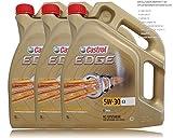 3x 5 L = 15 Liter Castrol Edge Titanium FST™ 5W-30 C3 Motor-Öl Motoren-Öl; Spezifikationen/Freigaben: ACEA C3; API SN/CF; BMW Longlife-04; dexos2®; MB-Freigabe 229.31/ 229.51; Renault RN 0700 / 0710;