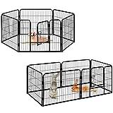 Milo & Misty strapazierfähig Metall-Laufgitter mit 6 Paneele für Welpen / Hunde / Hasen / Haustiere Gehege (80 X 60cm)